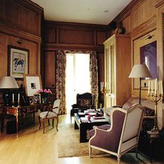 Section of library in a London townhouse by Nicholas Haslam.