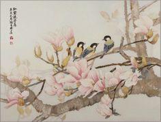 """Pré-visualização do esquema de bordados """"Magnolia"""" - Bordado de ponto cruzado"""