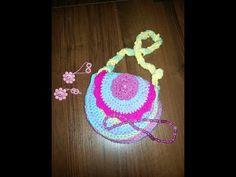 Вязанная крючком сумочка детская (Crochet. Children's handbag) - YouTube