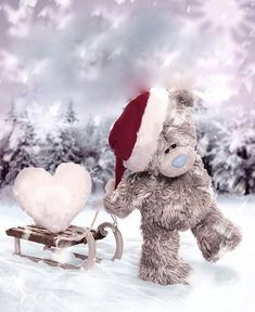 ♥ Tatty Teddy ♥ by EmLynne Tatty Teddy, Christmas In Heaven, 3d Christmas, Xmas, Missing Loved Ones, Missing My Son, Missing You So Much, Miss Mom, Miss You Dad