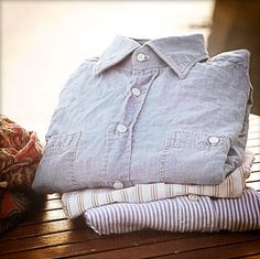 Salvatore Piccolo - Sophisticated Colonial style — Japanese Denim selvedged Shirt #moda #camicia #jeans