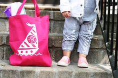 Free Shape of the Week Beach Bag by Brittany Sazonoff for Silhouette America--how to fill in monogram shapes