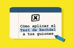 Podcast sobre la utilización del Test de Bechdel para escritura guiones menos machistas.