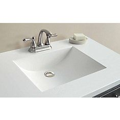37 Inch W X 22 Inch D White Cultured Marble Vanity Top With Wave