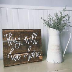 Christian Wall Art, Scripture Home Decor, Wood Sign    Part 68