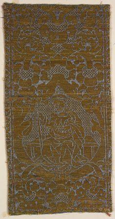 Textile fragment Unknown artist, Florentine; Italian, Florence Textile fragment, 1500-1549 Silk; linen 52.241