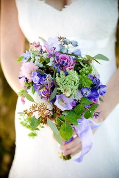 purple and blue bouquet