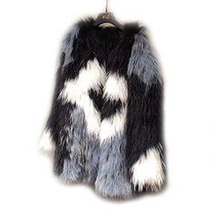 Newest Genuine Raccoon Dog Fur Coat Women Thick Fashion Fur Coat Knitted  Raccoon Dog Fur Casual Jacket Lady Winter Warm Overcoat 48604eca9296