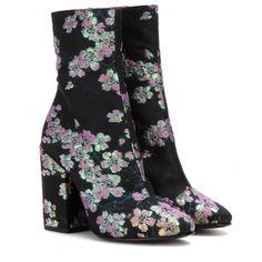 Dries Van Noten - Bottines en brocart à motif floral - mytheresa.com