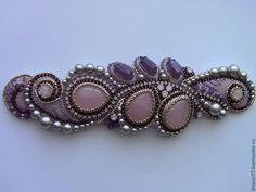 Bead Embroidered Bracelet, Embroidery Bracelets, Bead Embroidery Jewelry, Beaded Bracelet Patterns, Beaded Embroidery, Beaded Bracelets, Ribbon Jewelry, Soutache Jewelry, Beaded Jewelry