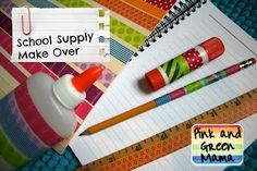 Head Back To School With DIY Personalized School Supplies and Gear from Pink and Green Mama