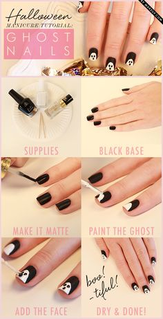 DIY for Halloween nails.  #halloween