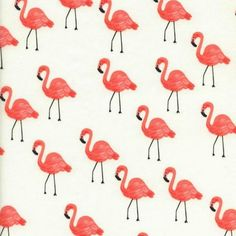 Cotton + Steel - Anna Bond of Rifle Paper Co. - Flamingos COTTON LAWN in Ivory by Bobbie Lou's Fabric Factory