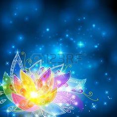 rainbow star Magie brillant arc,en,ésotérique fleur sur fond cosmique