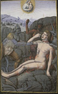 Bibliothèque nationale de France, Latin 1171, f. 56r (Dives and Lazarus). Book of Hours, use of Rome. 16th century