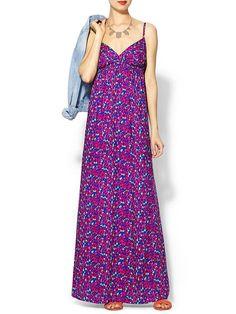 Splendid Watercolor Floral Maxi Dress