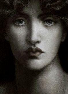 "felixinclusis: "" robertocustodioart: Dante Gabriel Rossetti Study of Jane Morris for 'Mnemosyne' (detail), 1876 """