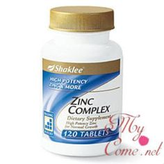 Zinc Complex merupakan supplement yang penting yang mempunyai banyak khasiat dan sangat disuggestkan untuk yang mempunyai masalah rambut gugur.Zinc Complex menyelesaikan masalah rambut gugur selepas bersalin dan baik untuk jerawat dengan cepat