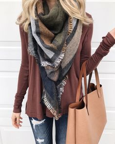 "2,679 Likes, 68 Comments - d e b | sunsets and stilettos (@sunsetsandstilettos) on Instagram: ""It's November... bring on the earth tones. This $29 scarf is perfect for Thanksgiving and the color…"""