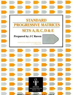 Ravens-matrices-SPM-cover - Raven's Progressive Matrices - Wikipedia, the free encyclopedia
