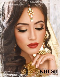 We just love this hair & makeup look created by Kajol Beauty Mua  +44(0)7958 355 941  Outfit: Tehxeeb London Jewellery: Deeya Jewellery