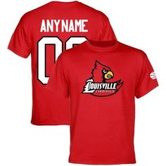 Louisville Cardinals Personalized Basketball Name & Number T-Shirt