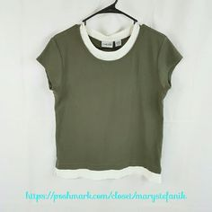 """Chico's Olive Green Tank Top size 1 Chico's Olive Green Tank Top size 1 in excellent used condition. Size 1 is equivalent to a Small, but this looks like a Medium to me. Please check the measurements.  Waist from Seam to Seam: 18"""" Length from Top: 24""""  Please let me know if you have questions. Happy Poshing! Chico's Tops Tees - Short Sleeve"""