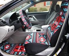 Aztec Car Seat Covers Set of Two Front Seat Covers Tribal Monogrammed Personalized Aztec Car Accessories Seat Covers For Car For Vehicle by ChicMonogram on Etsy