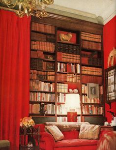 #rouge bibliotheques...