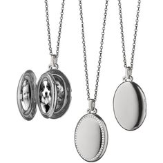 Monica Rich Kosann 18K Gold Diamond-Striped Ceramic Locket Necklace KCuJwnIU