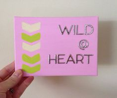 Wild At Heart OOAK mixed media quote art on Etsy, $14.00