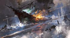 Corsair, Bigball Gao on ArtStation at https://www.artstation.com/artwork/yDeLx