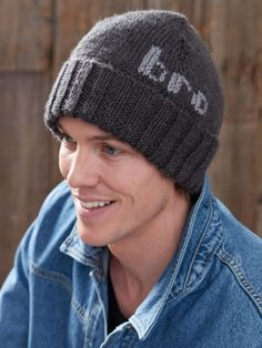 A perfect project for beginner knitters, this cool hat makes a great gift for your favorite bro