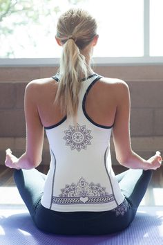 Karma Racerback TankYou can never get enough good karma! Our super soft, breathable cotton/lycra blend will transport you to your own personal nirvana. #yoga