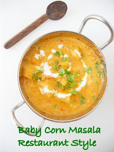 Cooking Is Easy: Baby Corn Masala Curry, Restaurant Style