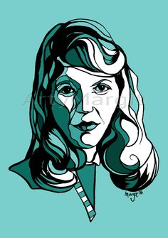 Portrait of Sylvia Plath, Author, Poet, The Bell Jar, Literature, Gift, Book, Library, librarian, Woman, Female, Limited Edition Print, Art by ArtyMargit on Etsy Silvia Plath, Brush Drawing, The Bell Jar, Limited Edition Prints, Poet, Contemporary Art, Literature, Author, Shape