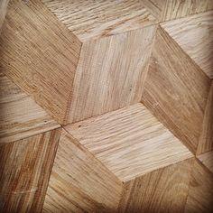 wooden floor door KnE+ ,gerookt eiken hout