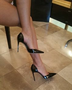 "188 Likes, 3 Comments - Positive Beograd (@positive_belgrade) on Instagram: ""Patentblack#pumps"" #highheelsstockings"