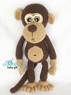 Amigurumi Pattern - Monkey crochet pattern, amigurumi animal crochet http://www.ravelry.com/patterns/library/amigurumi-monkey-9
