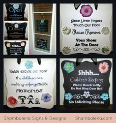 Child Care Sign Collection  Perfect for home by Shambalena on Etsy, $50.00