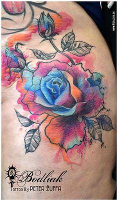 Peter Žuffa 2016 #art #tat #tattoo #tattoos #tetovanie #original #tattooart #slovakia #zilina #bodliak #bodliaktattoo #bodliak_tattoo #flower_tattoo #colorful_tattoo