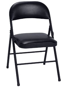 Cosco Black Vinyl Padded Seat Stackable Folding Chair (Set of - The Home Depot Best Folding Chairs, Folding Tables, Home Design, Set Design, Patio Chico, Black Leather Chair, Plastic Manufacturers, Black Office Chair