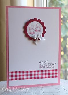 Baby we've grown new baby card by Stampin' Up