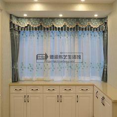 Короткие окна занавес шторы и закончил пользовательский гостиная спальня ден вышитые ткани детский номер Специальное предложение Бесплатная доставка - Taobao