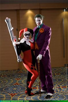 Joker and Harley Quinn cosplay...one of the best I've ever seen!