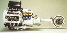 BMW K75 3 cylinder horizontal engine with shaft output