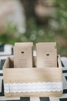 simple kraft ceremony programs | Jen Dillender #wedding