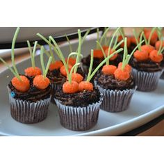 Tutorial - Carrot Patch Cupcakes  Our Editors' Favorites-#Easter #Cupcakes