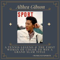 Today's Woman in Sports: Althea Gibson. Our Sport magazine prints make the perfect holiday gift! Althea Gibson, Tennis Legends, Sports Gallery, Sports Magazine, West Village, Print Magazine, Woman, Classic, Instagram Posts