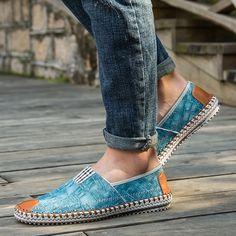 Shop Men Breathable Canvas Espadrilles Flats Denim Slip On Driving Shoes from Happyzoe in Shoes, available on Tictail from Espadrilles, Driving Shoes, Casual Sneakers, Men Fashion, Men's Shoes, Slip On, Man Shop, Flats, Denim